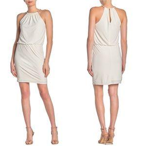Laundry by Shelli Segal White Snake Chain Dress